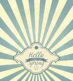 Vintage Spring Frame Royalty Free Stock Photo