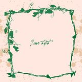 Vintage spring invitation card Stock Images