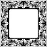Vintage square frame Stock Photos