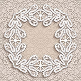 Vintage square lace frame in retro style Stock Photos