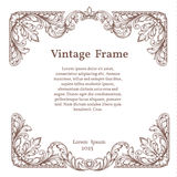 Vintage square ornate frame. In Victorian style Royalty Free Stock Images
