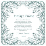 Vintage square ornate frame Royalty Free Stock Photos