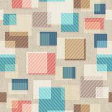 Vintage square seamless pattern with grunge effect Stock Images