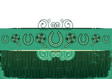 Vintage St. Patricks Day abstract background. With horseshoes decorationon old texture Stock Photo
