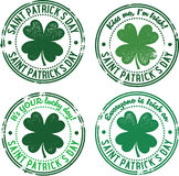 Vintage St. Patricks Day Stamps Stock Photography