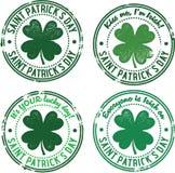 Vintage St. Patricks Day Stamps Stock Photography