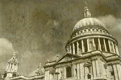 Vintage St. Paul's Cathedral in London Stock Image