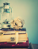 Vintage Staf in Retro Composition, pastel colors stock photography