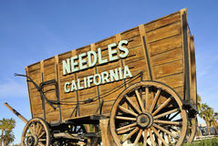 Vintage StageCoach. Welcoming Travelers to the Town of Needles, California Stock Images