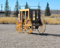Vintage stagecoach. Vintage stagecoach displayed outdoors for tourist Royalty Free Stock Photo