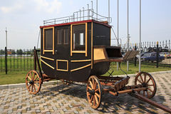 Vintage stagecoach in Tourist Complex Siberian Podvorye. Stock Image