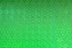 Vintage stained glass window of green colored glass Royalty Free Stock Photo