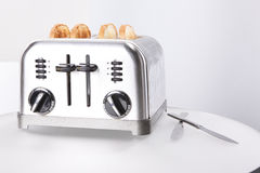 Vintage stainless steel toaster Stock Image