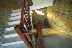 Vintage staircase in castle Stock Image