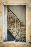 Vintage stairs in a building of Valletta Royalty Free Stock Photo