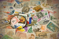 Vintage Stamp Collection Stock Images