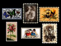 Vintage-Stamp-Collection Royalty Free Stock Images