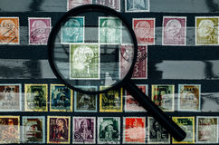 Vintage Stamp Collection Stock Photo