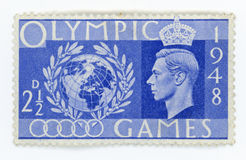 Vintage stamp - Great Britain Olympic Games Royalty Free Stock Photos