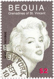 Vintage stamp with Monroe Stock Image