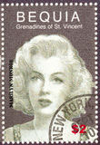 Vintage stamp with Monroe Royalty Free Stock Photo