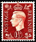 Vintage stamp printed in Great Britain 1939 shows , King George VI. POLTAVA, UKRAINE - APRIL 21, 2019. Vintage stamp printed in Great Britain 1939 shows , King stock images