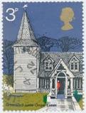Vintage stamp printed in Great Britain 1972 shows Old Village Churches, St. Andrews, Essex. POLTAVA, UKRAINE - JUNE 12, 2019. Vintage stamp printed in Great stock photography
