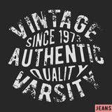 1973 vintage stamp. T-shirt print design. 1973 vintage stamp. Printing and badge applique label t-shirts, jeans, casual wear. Vector illustration Royalty Free Stock Photo