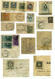 Vintage Stamps Stock Photography