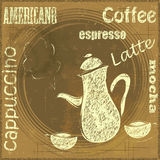 Vintage Stand for Coffee, cafe menu Stock Images