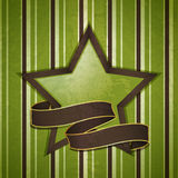 Vintage star and banner background Stock Image