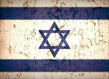 Vintage Star of David flag. Vintage effect Star of David Israeli flag Stock Image