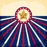 Vintage star flag background - Card Royalty Free Stock Photography