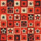 Vintage star seamless pattern with grunge effect Royalty Free Stock Photography