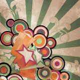 Vintage stars. Vintage background with retro style stars and circle Stock Photography