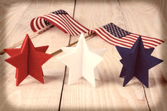 Vintage Stars and Flags Royalty Free Stock Photo