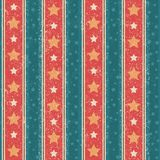 Vintage Stars Pattern. Vintage seamless vector pattern with stripes and stars Royalty Free Stock Photo