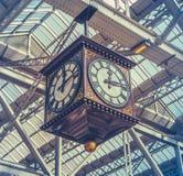 Vintage Station Clock Stock Image