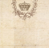 Vintage stationary with flower heart royalty free illustration
