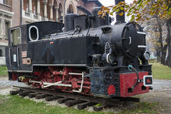 Vintage stationary locomotive Royalty Free Stock Images
