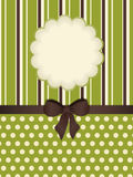 Vintage Stationery Background With Flower Cut Out Stock Photography
