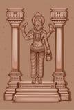 Vintage Statue of Indian God Vishwakarma Sculpture Stock Images
