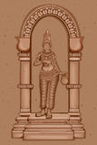 Vintage Statue of Indian Goddess Brahmacharini Sculpture Royalty Free Stock Photography