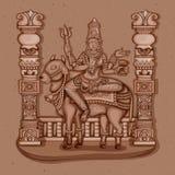 Vintage Statue of Indian Goddess Maha Gauri Sculpture Stock Photography