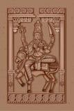 Vintage Statue of Indian Goddess Shailaputri Sculpture Stock Image