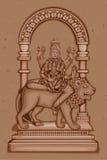 Vintage Statue of Indian Goddess Skanda Mata Sculpture Royalty Free Stock Photography