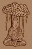 Vintage Statue of Indian Lord Buddha Sculpture Stock Photos