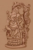 Vintage Statue of Indian Lord Ganesha Sculpture Stock Photo