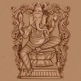 Vintage Statue of Indian Lord Ganesha Sculpture Royalty Free Stock Photos