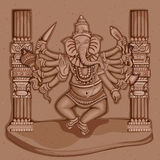 Vintage Statue of Indian Lord Ganesha Sculpture Royalty Free Stock Photography